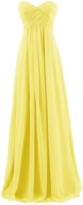 ThaliaDress Women's Empire Long Chiffon Bridesmaid Dress Prom Gown 2XL
