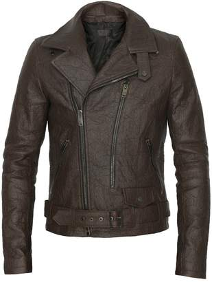 ALTIIR - Men's Neo-Classic Biker Jacket In Brown
