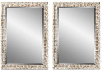 C&C Reflections Weathered Wall Mirrors - White
