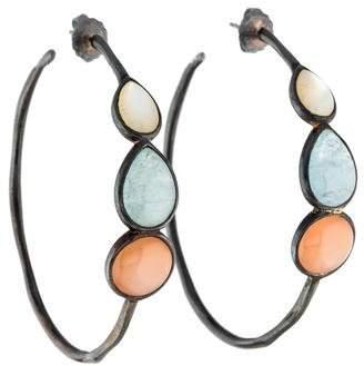 Ippolita Mother of Pearl, Aquamarine & Peach Moonstone Scultura Earrings
