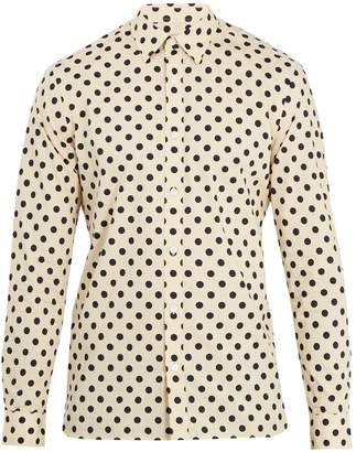 Burberry Polka-dot print single-cuff cotton shirt
