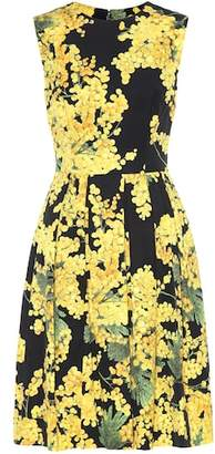 Carolina Herrera Sleeveless cotton-blend dress