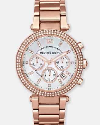 Michael Kors Parker Rose Gold-Tone Chronograph Watch
