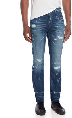 PRPS Mid-Rise Distressed Slim Fit Jeans