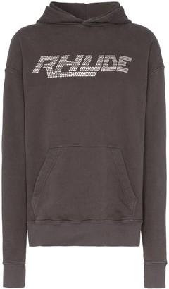 Rhude Swarovski logo hoodie
