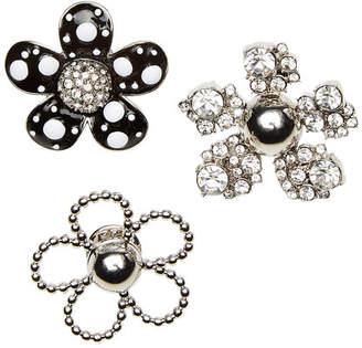 Marc Jacobs Daisy Polka Dot Embellished Brooch Set