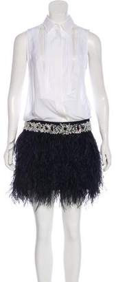 Givenchy Feather-Accented Dress w/ Tags