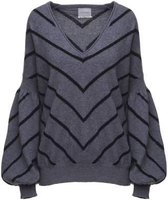 Fine Edge Stripe-intarsia Wool And Cashmere-blend Sweater