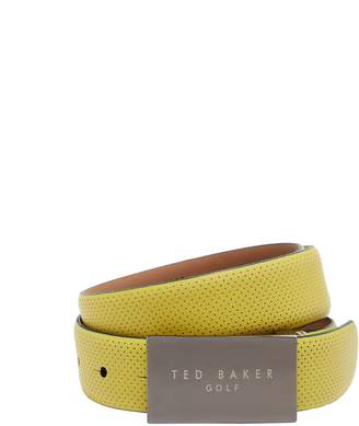 Ted Baker Pinner Rubberised Leather Golf Belt