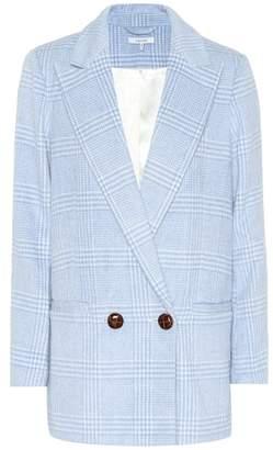 Ganni Woolside checked blazer