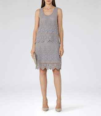 Reiss Leia Lace Double-Tier Dress