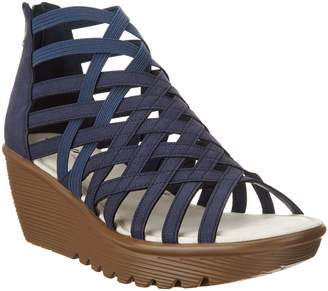 Skechers Peep-Toe Caged Wedges - Dream Queen