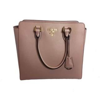 Prada Saffiano Handbag Rose Beige