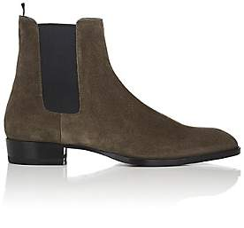 Saint Laurent Men's Wyatt Suede Chelsea Boots - Gray