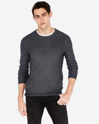 Express Mixed Stitch Crew Neck Sweater