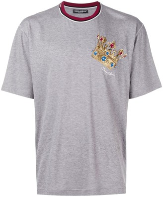 Dolce & Gabbana embroidered crown T-shirt