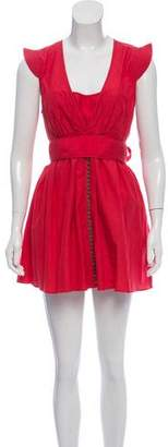 Twenty8Twelve Silk Blend Mini Dress