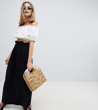 Asos DESIGN Petite maxi skirt with paperbag waist
