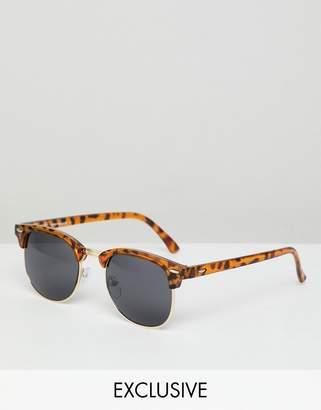Reclaimed Vintage inspired retro sunglasses in tort
