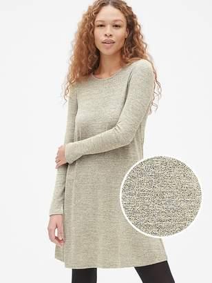 Gap Softspun Long Sleeve Metallic Swing Dress