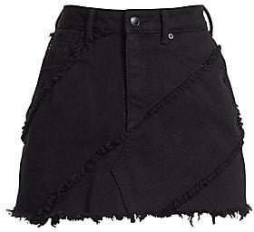 ac1c5b66fa4 Alexander Wang Women s Diagonal Seamed Denim Skirt