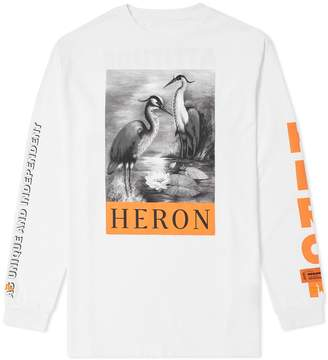 Heron Preston Long Sleeve Black & White Herons Tee