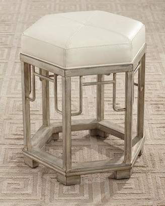 John-Richard Collection Vercelli Leather Stool