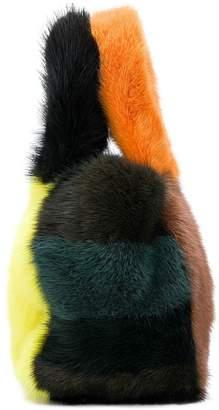 P.A.R.O.S.H. colour block mini tote bag