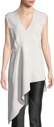 Zero Maria Cornejo Eve Mosa Sleeveless Linen-Blend Asymmetric Tunic