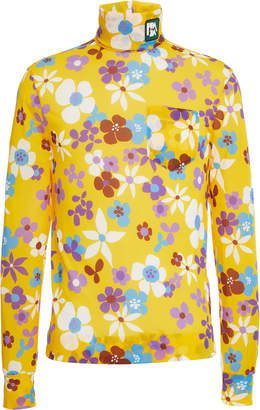 Prada Bloom Printed Jersey Turtleneck