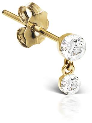 Maria Tash Invisible Set Diamond Dangle Stud Earring - Yellow Gold
