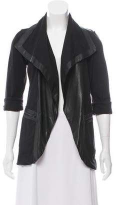 Alice + Olivia Leather-Trimmed Casual Jacket