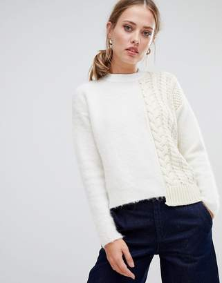 Sportmax CODE Code Fluffy and Cable Knit Sweater