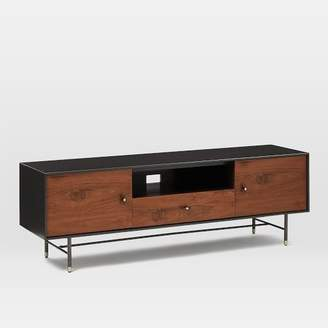 """west elm Modernist Wood + Lacquer Media Console (68"""") - Anthracite"""