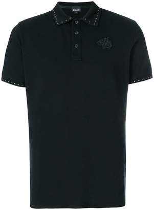 Just Cavalli studded logo polo shirt