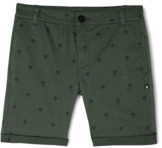 Bauhaus NEW Single Palm Print Chino Short Green