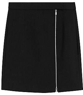 Theory Women's Side Zip Mini Stretch Wool Skirt