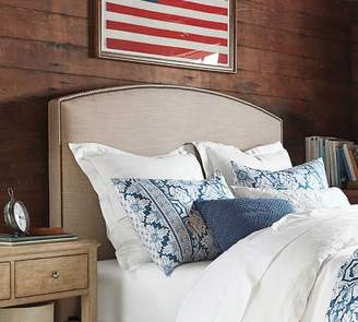 Pottery Barn Fillmore Curved Upholstered Headboard
