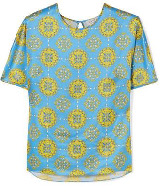 Seren Tipi Printed Silk-satin Top