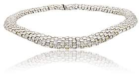 White Diamante Stazia Loren Women's Choker-Silver