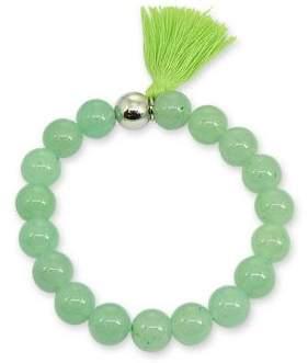 Lord & Taylor Tasseled Stone Bead Bracelet