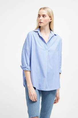 French Connenction Bega Stripe Dip Hem Shirt
