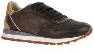 Brunello Cucinelli Chain Toe Cap Sneakers
