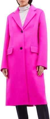 Calvin Klein Virgin wool blend melton coat