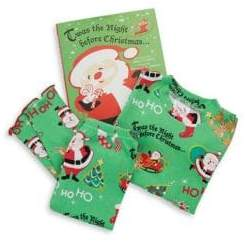 Books To Bed Toddler's& Little Boy's Three-Piece Twas the Night Cotton Pajamas& Book Set