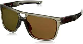 Oakley Men's Crossrange Patch Non-Polarized Iridium Rectangular Sunglasses