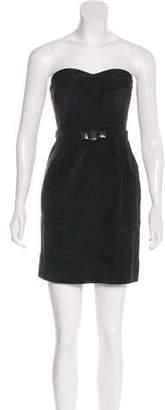 Rebecca Taylor Belted Strapless Mini Dress