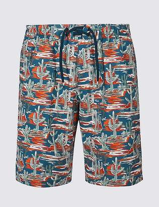 Marks and Spencer Cactus Print Quick Dry Swim Shorts