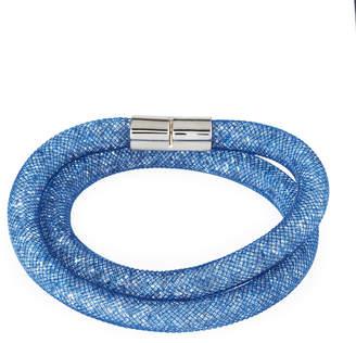 Swarovski Stardust Convertible Crystal Mesh Bracelet/Choker, Blue, Medium