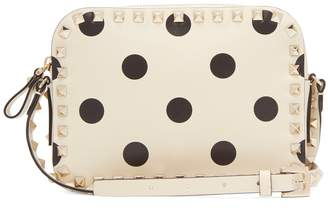 Valentino Rockstud camera polka-dot leather cross-body bag